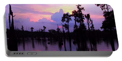 Sunset Skyview Reflections Clouds Landscape Unique Portable Battery Charger