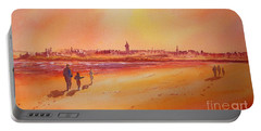 Sunset St Andrews Scotland Portable Battery Charger by Beatrice Cloake