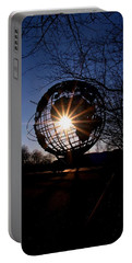Sunset Through The Unisphere Portable Battery Charger
