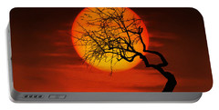 Sunset Tree Portable Battery Charger by Bess Hamiti