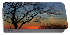 Sunset Tree In Ocean City Md Portable Battery Charger
