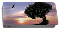 Sunset Tree Of Tranquility Portable Battery Charger