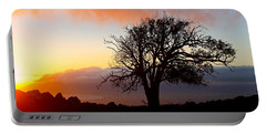 Sunset Tree In Maui Portable Battery Charger by Venetia Featherstone-Witty