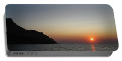 Portable Battery Charger featuring the photograph Sunset by Vicki Spindler