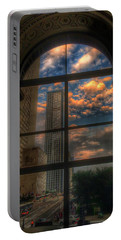 Sunset View Of Chicago Portable Battery Charger