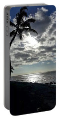 Sunset With Palm Trees Portable Battery Charger by Pamela Walton