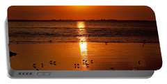 Portable Battery Charger featuring the photograph Sunset With The Birds Photo by Meg Rousher