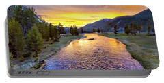 Sunset Yellowstone National Park Madison River Portable Battery Charger