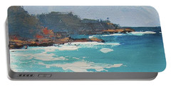 Portable Battery Charger featuring the painting Sunshine Beach And Lions Head Noosa Heads Queensland by Chris Hobel