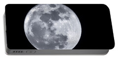 Super Moon Over Arizona  Portable Battery Charger