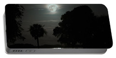 Super Moon Over Wimbee Creek Portable Battery Charger