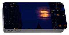 Portable Battery Charger featuring the photograph Super Moon Rises by Mike Ste Marie
