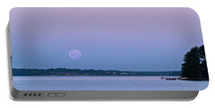 Super Moon Setting-1 Portable Battery Charger by Charles Hite