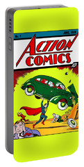 First Edition - Superman Comic Book  Portable Battery Charger
