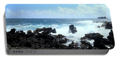 Portable Battery Charger featuring the photograph Surf At Hana by Fred Wilson