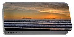Portable Battery Charger featuring the photograph Surf Fishing by Michael Gordon