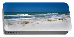 Surf On The Beach, St. Joseph Peninsula Portable Battery Charger by Panoramic Images