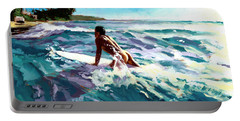 Surfer Coming In Portable Battery Charger