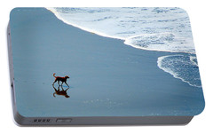 Portable Battery Charger featuring the photograph Surfer Dog by AJ  Schibig
