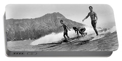 Surfing In Honolulu Portable Battery Charger