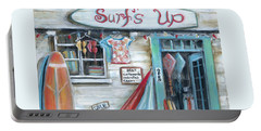 Surfs Up Beach Shop Portable Battery Charger