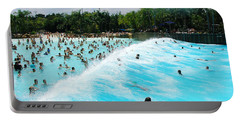 Portable Battery Charger featuring the photograph Surfs Up by David Nicholls