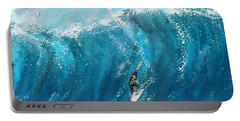 Surf's Up- Surfing Art Portable Battery Charger