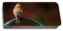 Surreal Purple Finch Portable Battery Charger