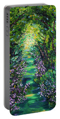 Portable Battery Charger featuring the painting Surrender by Meaghan Troup