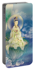 Sutra-holding Kuan Yin Portable Battery Charger by Lanjee Chee
