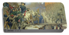 Suvorov Crossing The Devils Bridge In 1799, 1880 Wc On Paper Portable Battery Charger