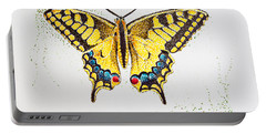 Swallowtail - Butterfly Portable Battery Charger by Katharina Filus