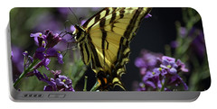 Swallowtail Butterfly On Lavender  Portable Battery Charger
