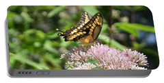 Portable Battery Charger featuring the photograph Swallowtail by Karen Silvestri