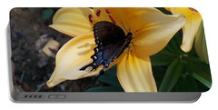 Portable Battery Charger featuring the photograph Swallowtail On Asiatic Lily by Kathryn Meyer
