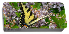 Swallowtail On Lilacs Portable Battery Charger