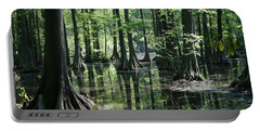 Swamp Land Portable Battery Charger by Cathy Harper