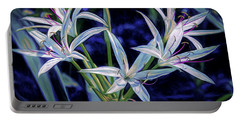 Portable Battery Charger featuring the photograph Swamp Lilies by Steven Sparks