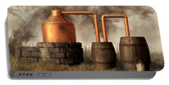 Swamp Moonshine Still Portable Battery Charger by Daniel Eskridge