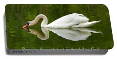 Swan Heart Bible Verse Greeting Card Original Fine Art Photograph Print As A Gift Portable Battery Charger