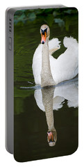 Portable Battery Charger featuring the photograph Swan In Motion by Gary Slawsky