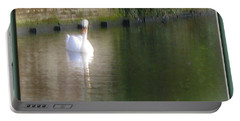 Portable Battery Charger featuring the photograph Swan In The Canal by Victoria Harrington