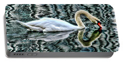 Swan On Lake Eola By Diana Sainz Portable Battery Charger