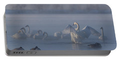 Portable Battery Charger featuring the photograph Swan Showing Off by Patti Deters