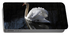 Swan With Reflection  Portable Battery Charger