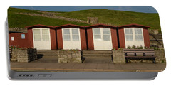 Portable Battery Charger featuring the photograph Swanage Beach Huts by Linsey Williams