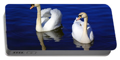 Swans On The Lake Portable Battery Charger