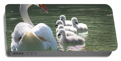 Portable Battery Charger featuring the photograph Swans  by Rogerio Mariani