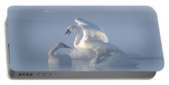 Portable Battery Charger featuring the photograph Trumpeter Swans - Three's Company by Patti Deters