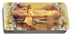 Portable Battery Charger featuring the painting Sweet Memories A Trip To The Shore by Irina Sztukowski